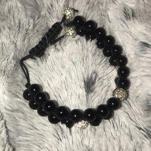 Black and crystal bracelet